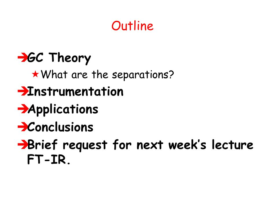 Brief request for next week's lecture FT-IR.