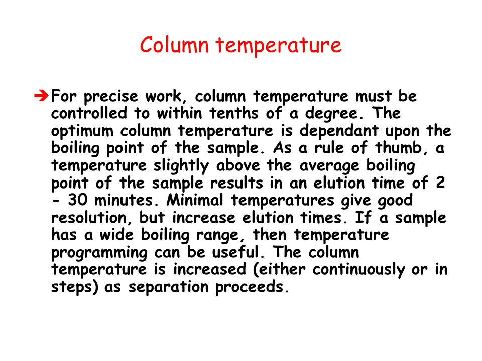 Column temperature