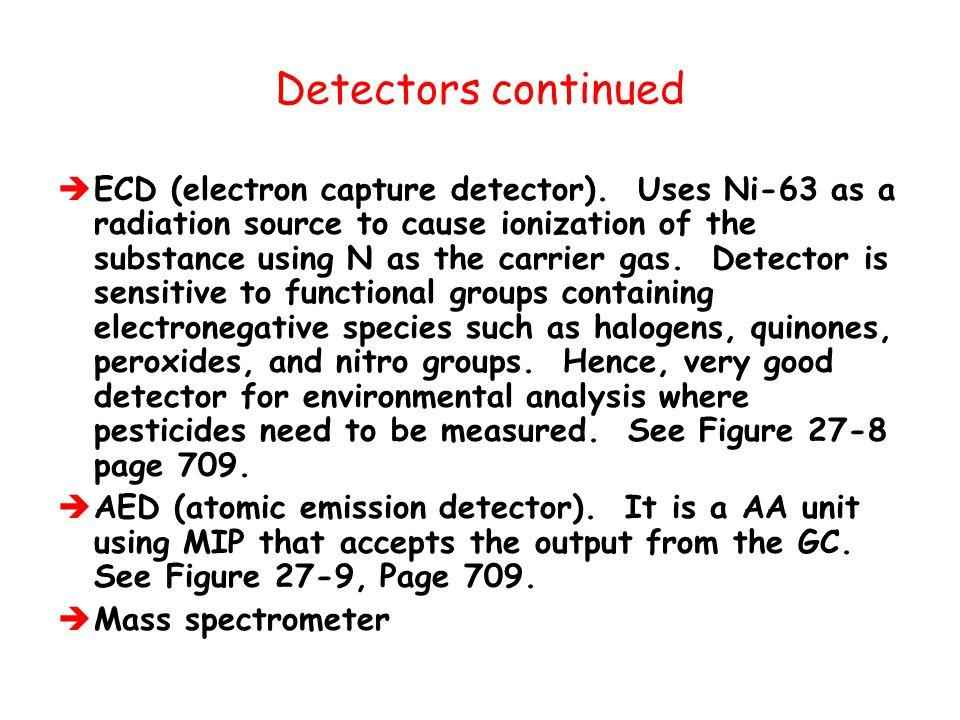 Detectors continued