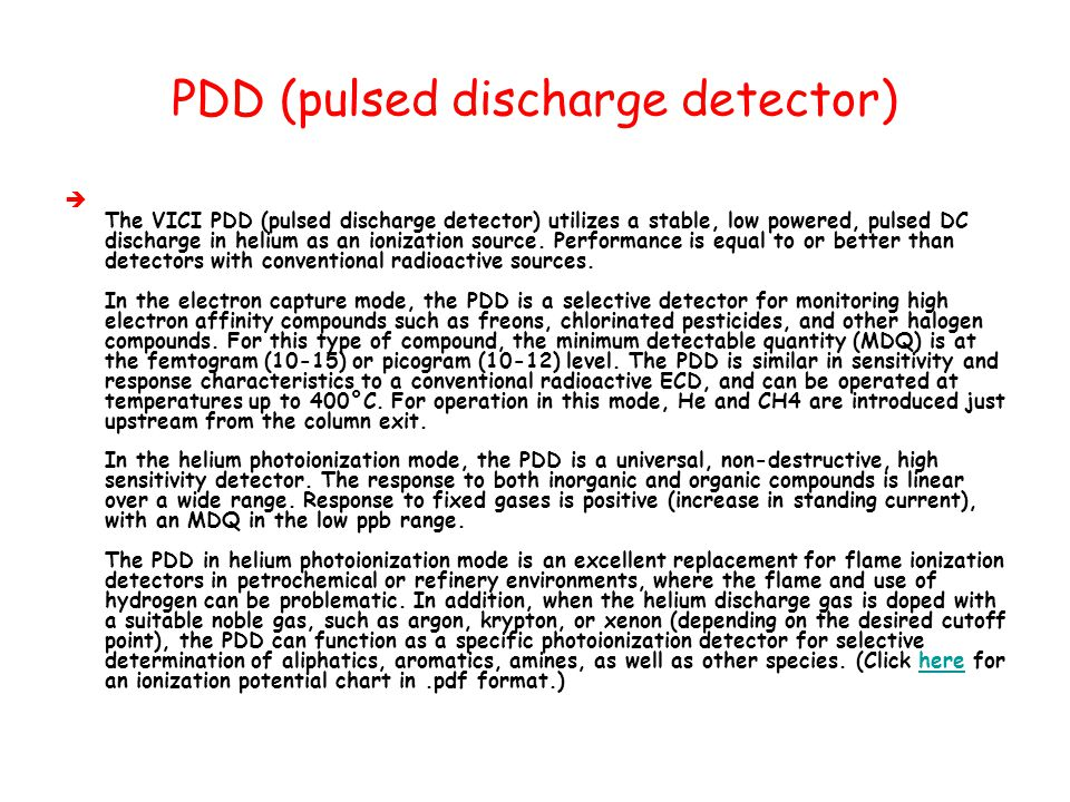 PDD (pulsed discharge detector)