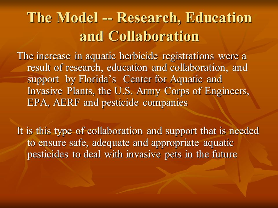 The Model -- Research, Education and Collaboration