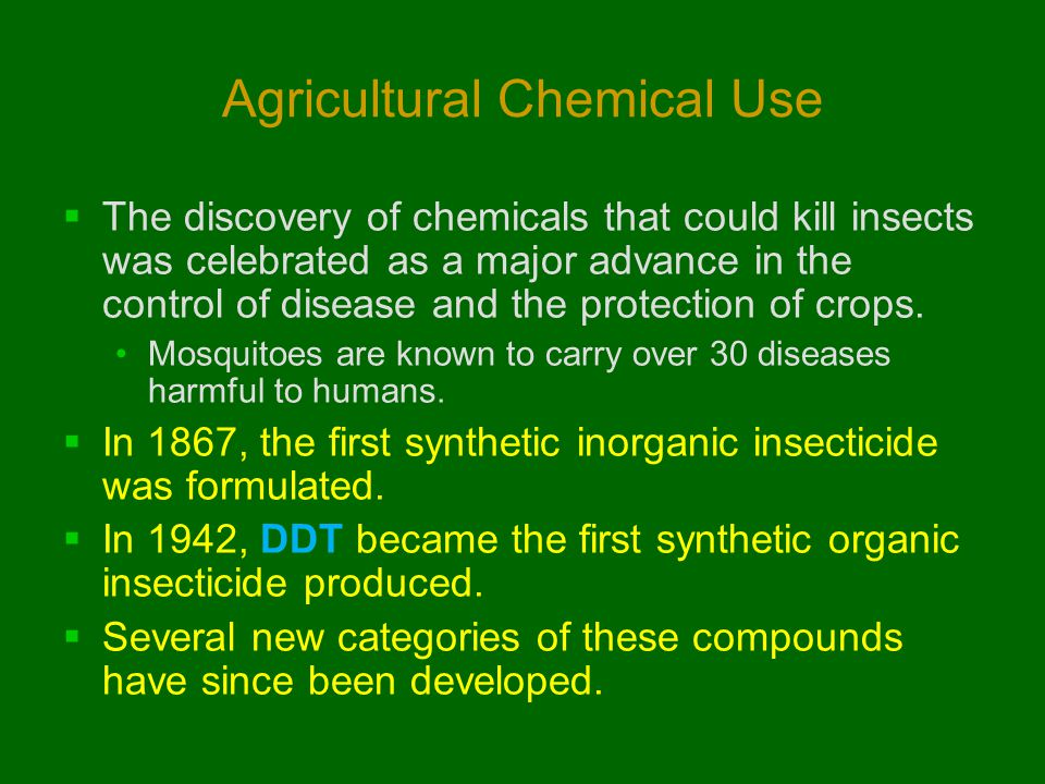 Agricultural Chemical Use