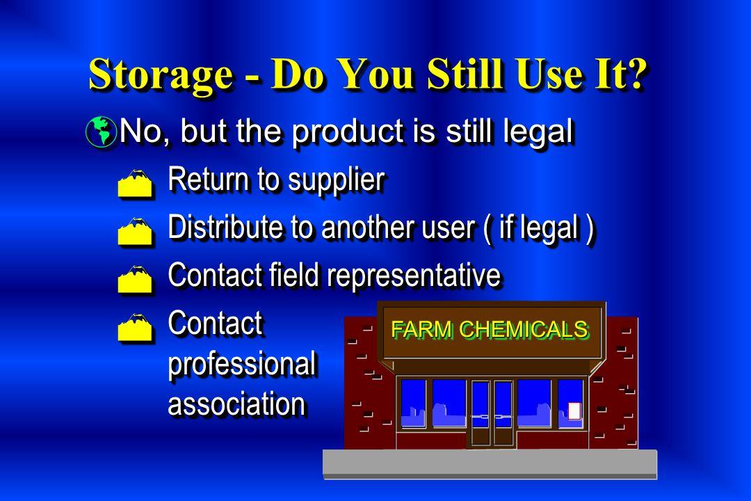 Storage - Do You Still Use It