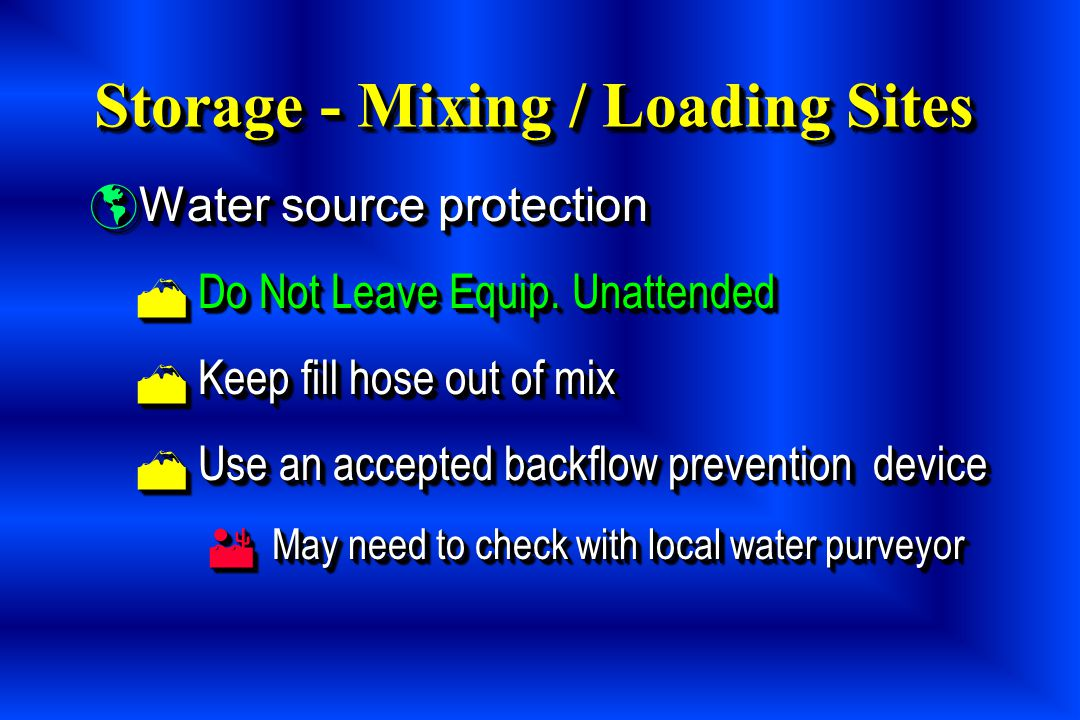 Storage - Mixing / Loading Sites