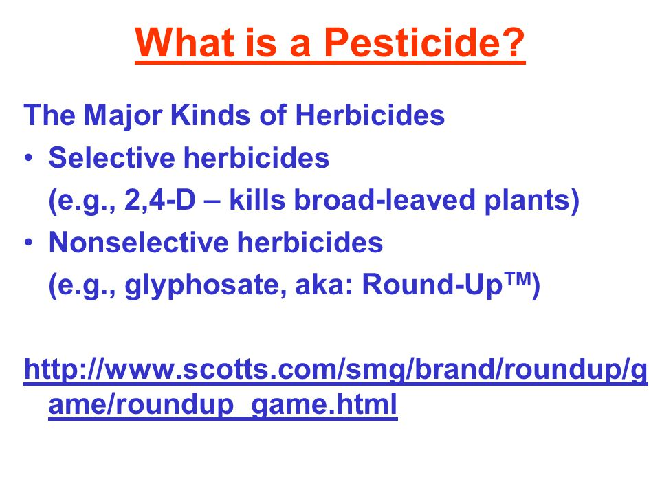 What is a Pesticide The Major Kinds of Herbicides