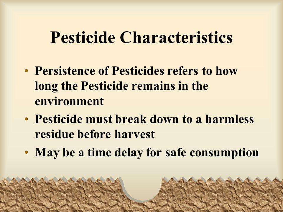 Pesticide Characteristics