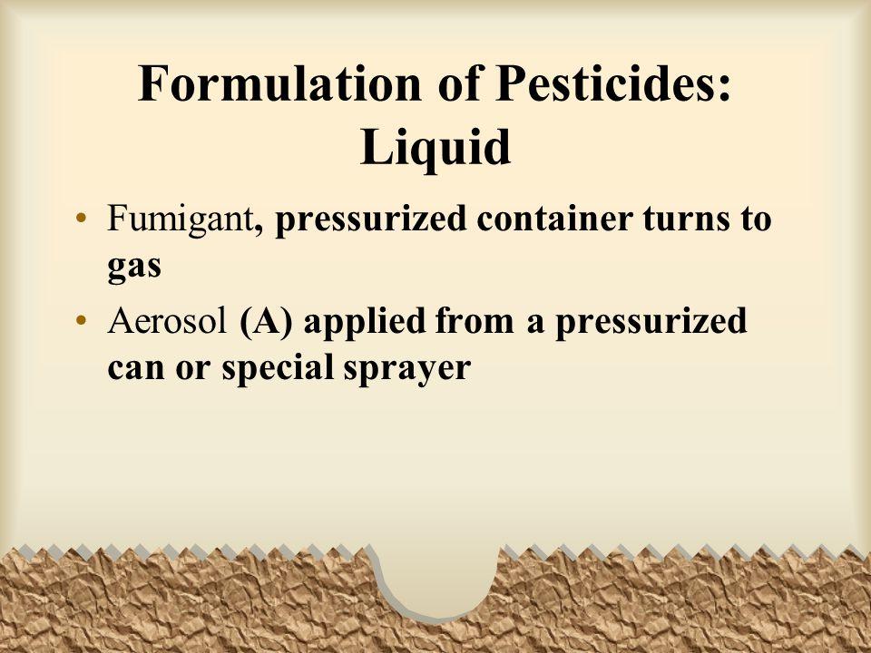 Formulation of Pesticides: Liquid