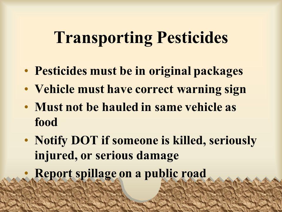 Transporting Pesticides