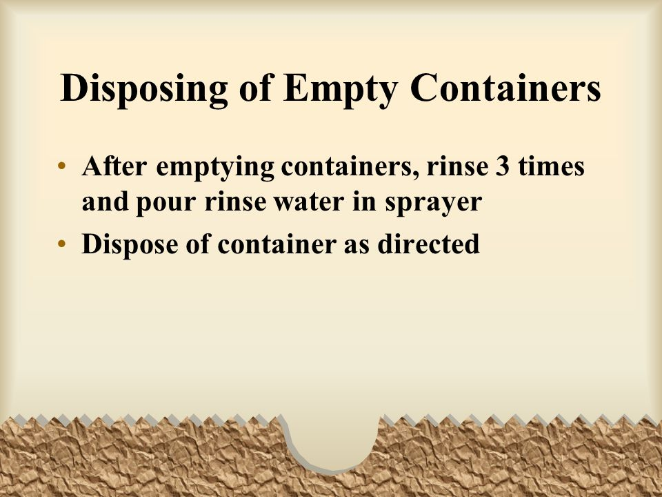 Disposing of Empty Containers