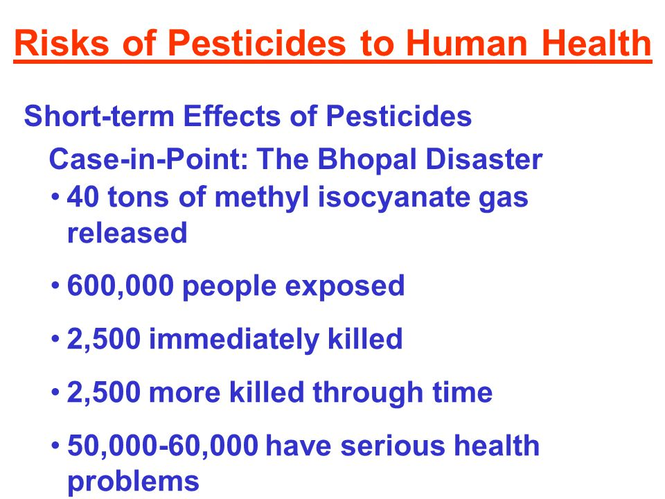 effect of hormones and pesticides on environment and humans Agricultural pesticides and human health restricted means it can cause harm to humans or the environment unclassified refers to all other pesticides.