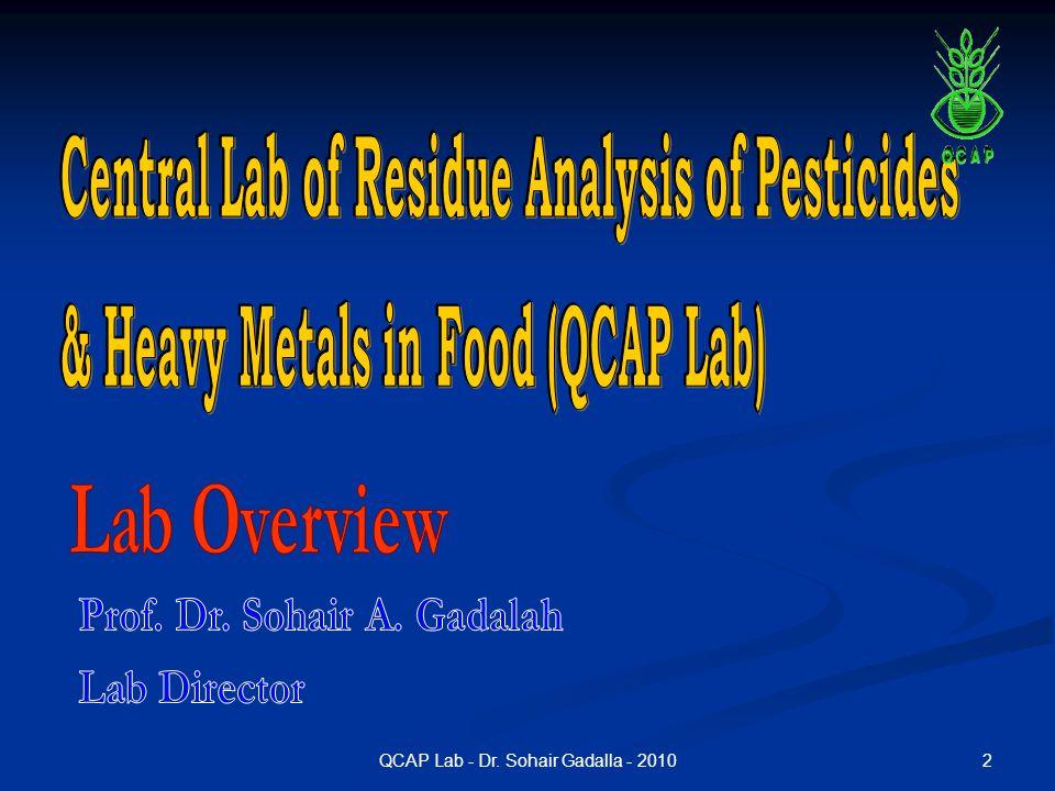 QCAP Lab - Dr. Sohair Gadalla - 2010