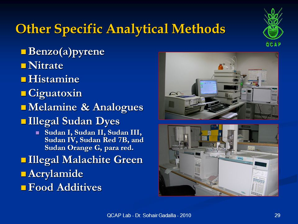 Other Specific Analytical Methods