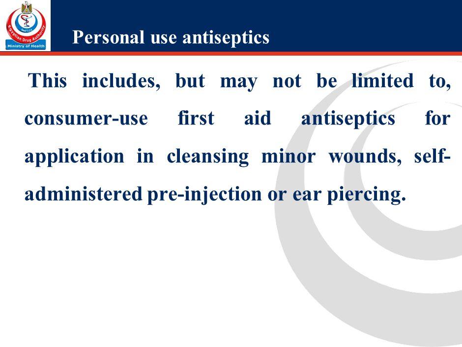 Personal use antiseptics