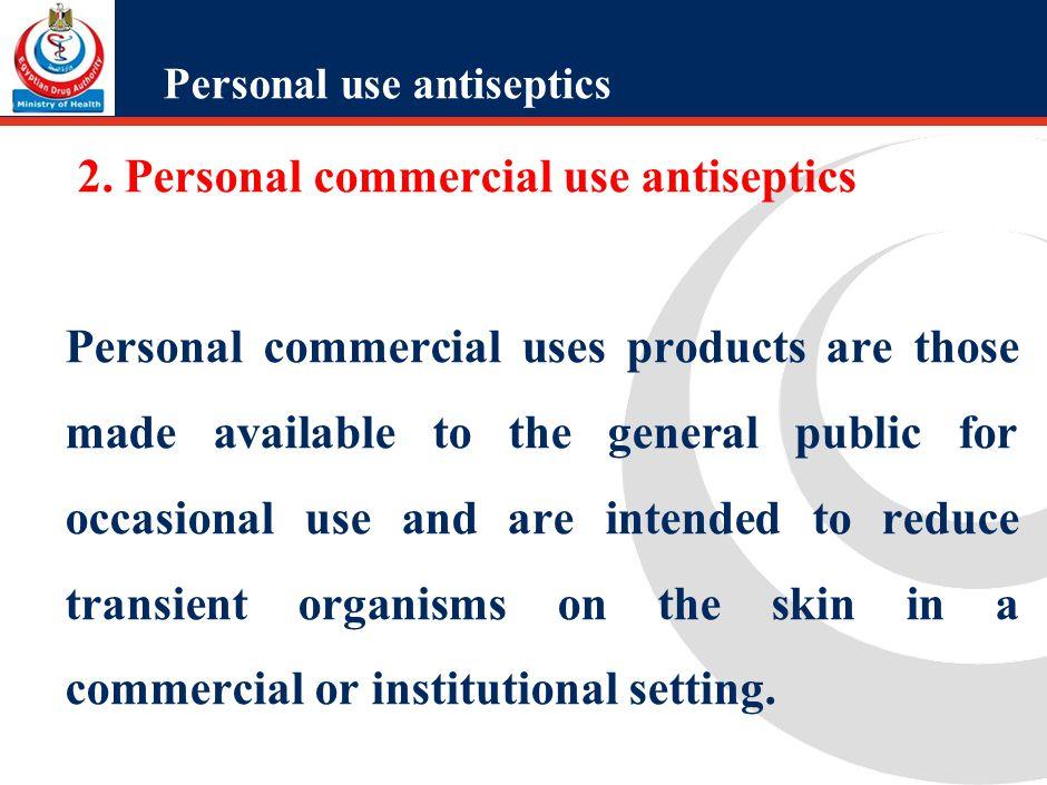 2. Professional use antiseptics