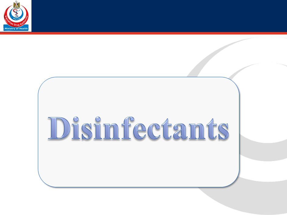 2. Disinfectants