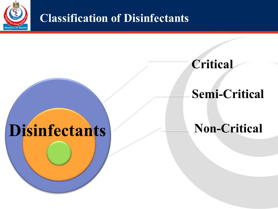 Critical use disinfectants