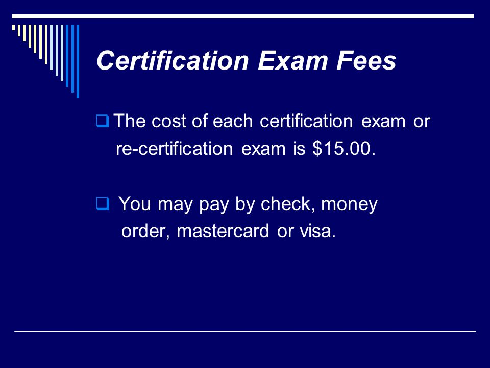 Certification Exam Fees