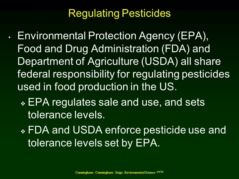 Regulating Pesticides
