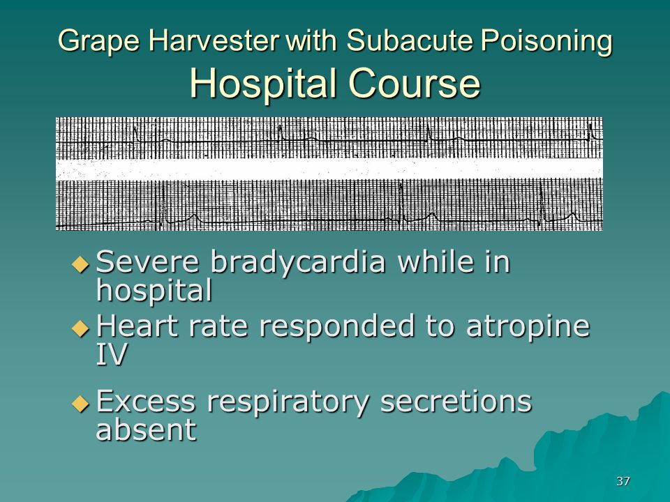 Grape Harvester with Subacute Poisoning Hospital Course