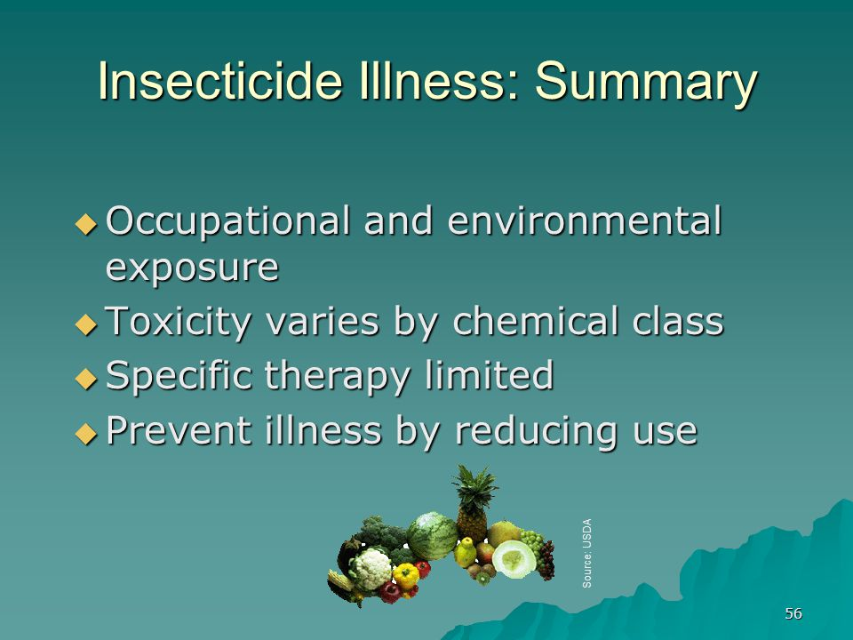 Insecticide Illness: Summary