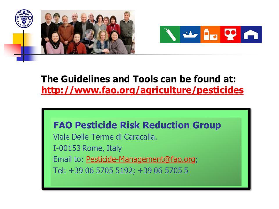 FAO Pesticide Risk Reduction Group