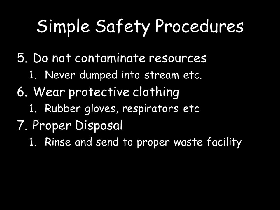 Simple Safety Procedures