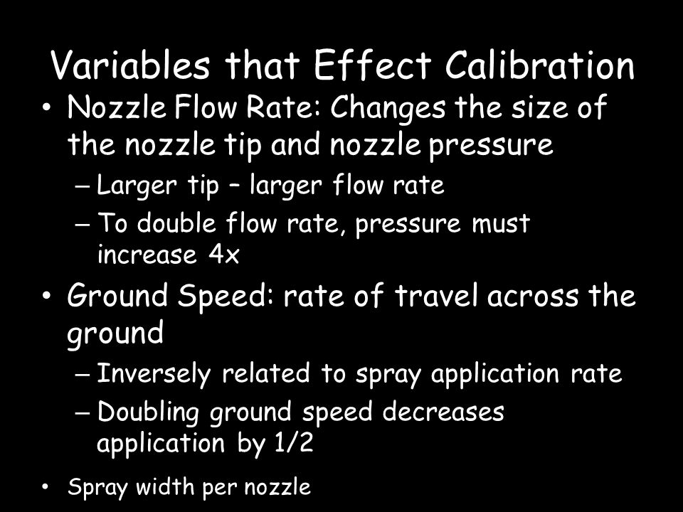 Variables that Effect Calibration