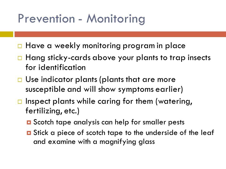 Prevention - Monitoring