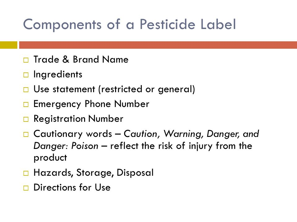 Components of a Pesticide Label