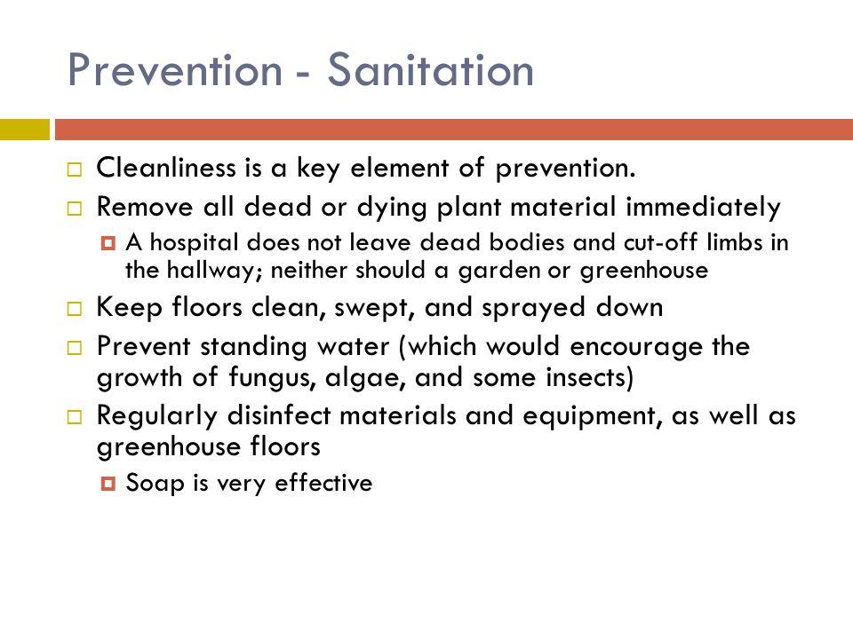 Prevention - Sanitation