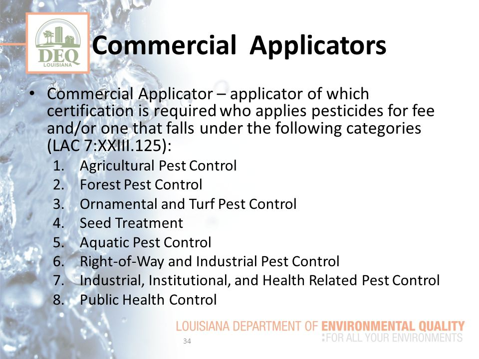 Commercial Applicators