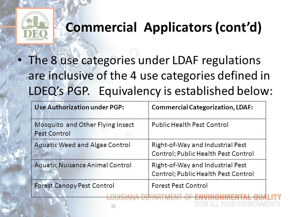Commercial Applicators (cont'd)