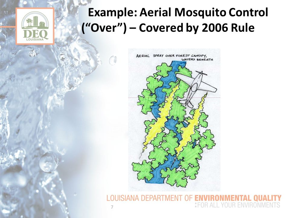 Example: Aerial Mosquito Control ( Over ) – Covered by 2006 Rule