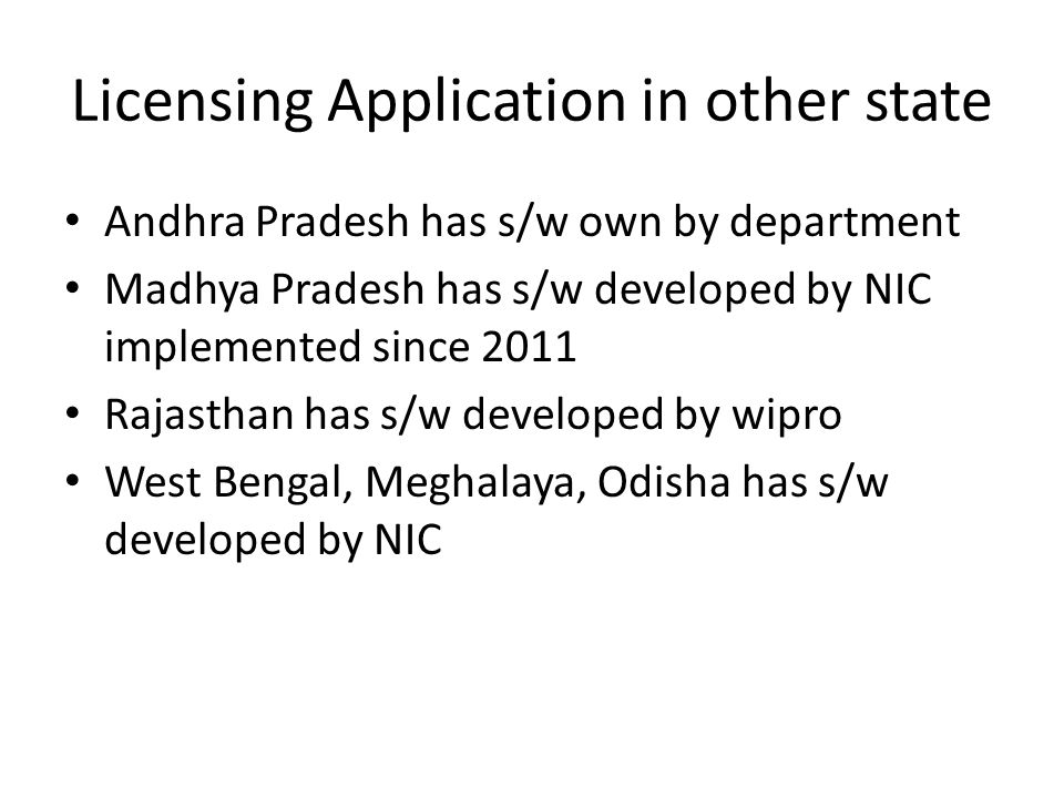 Licensing Application in other state