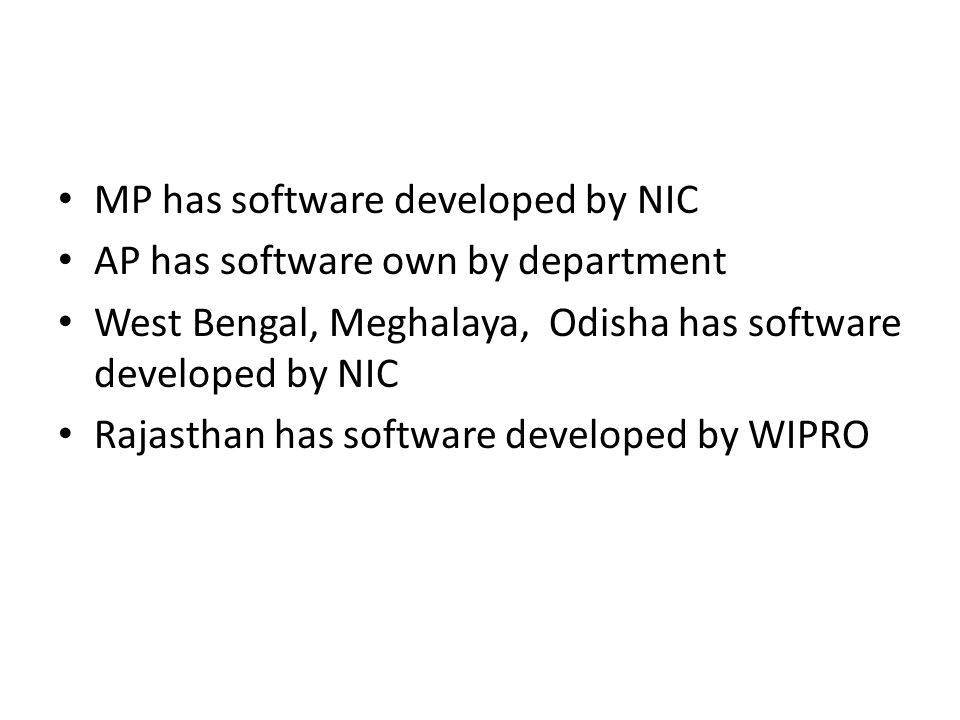 MP has software developed by NIC