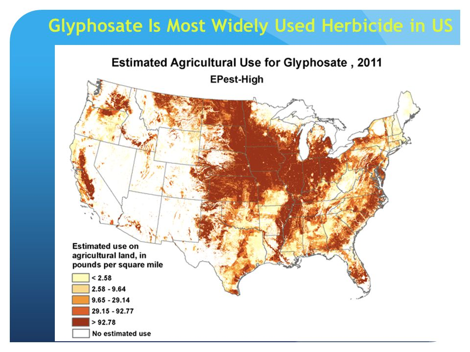 Glyphosate Is Most Widely Used Herbicide in US