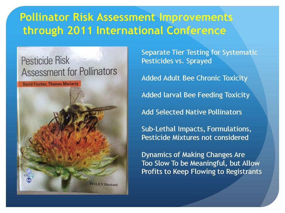 Pollinator Risk Assessment Improvements