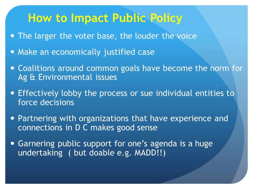 How to Impact Public Policy