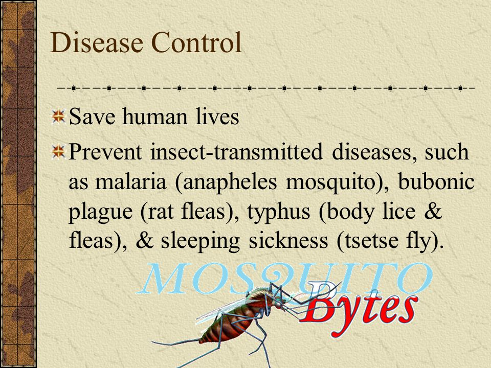Disease Control Save human lives