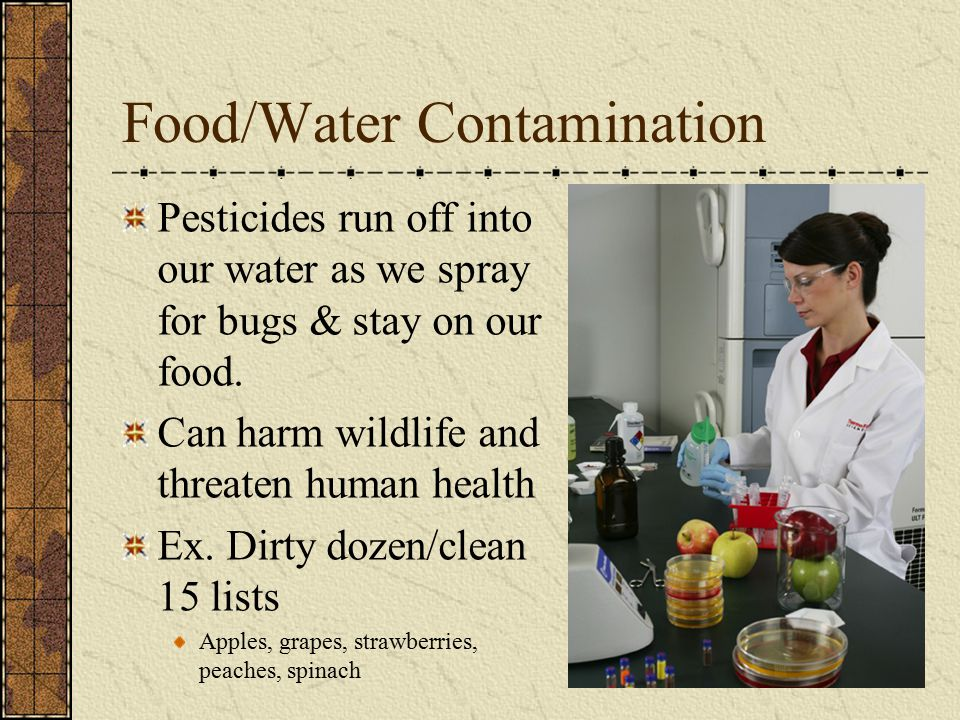 Food/Water Contamination