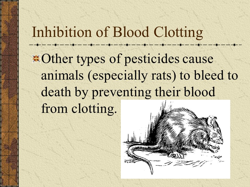 Inhibition of Blood Clotting