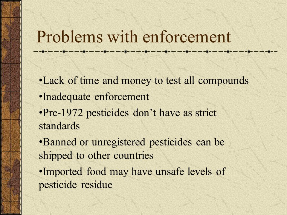 Problems with enforcement