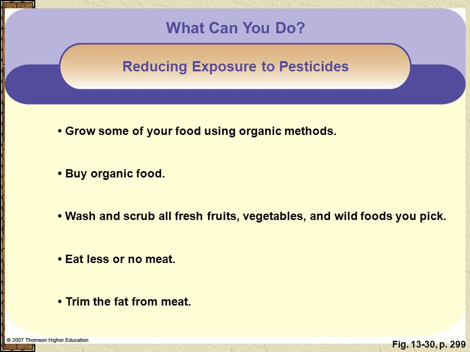 Reducing Exposure to Pesticides