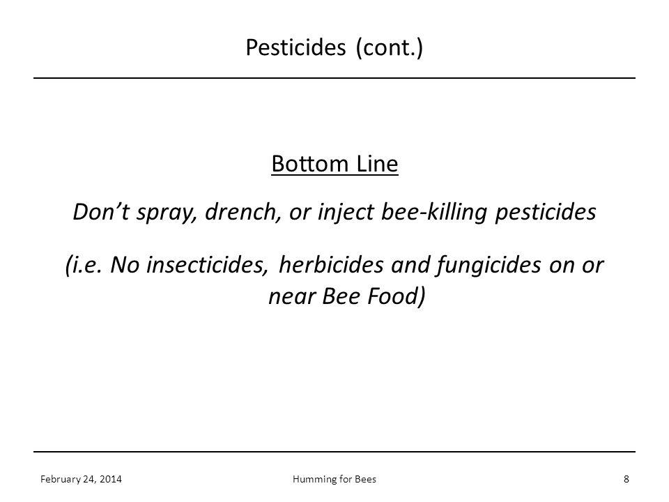 Pesticides (cont.)