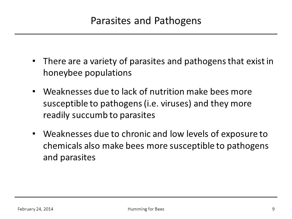 Parasites and Pathogens