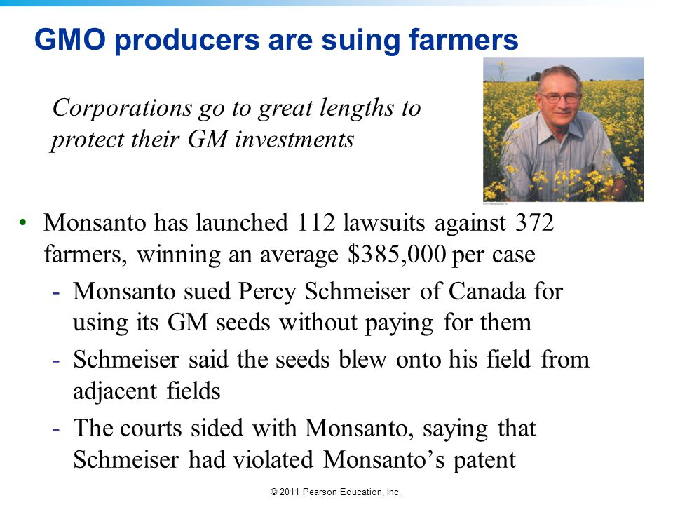 GMO producers are suing farmers