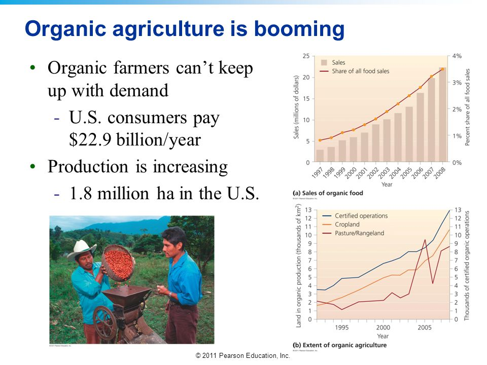 Organic agriculture is booming