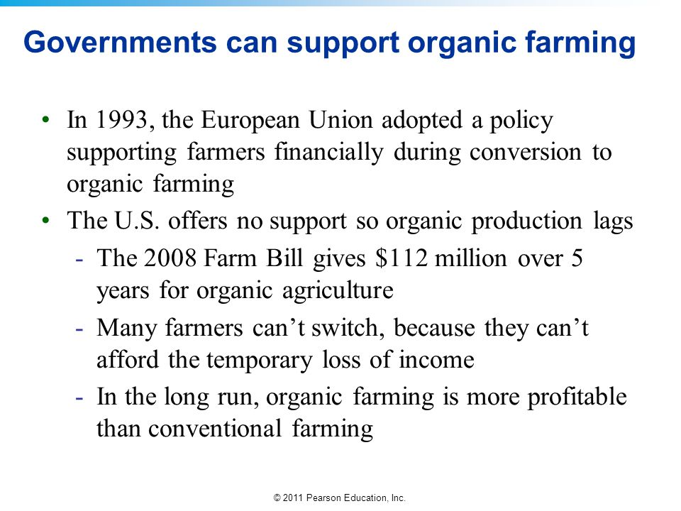 Governments can support organic farming