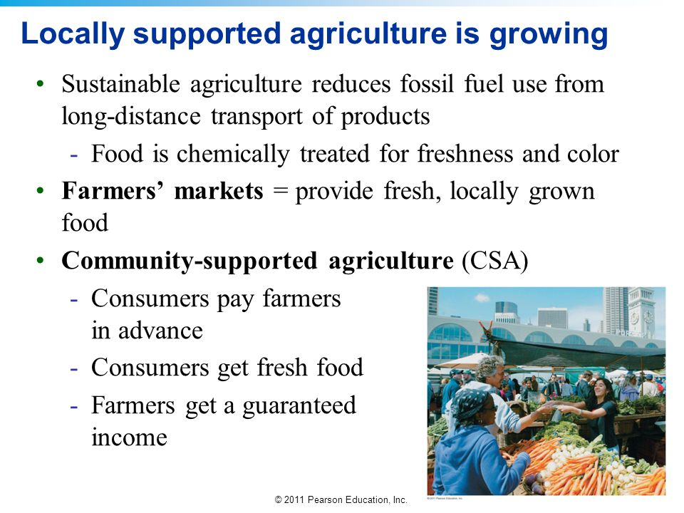 Locally supported agriculture is growing