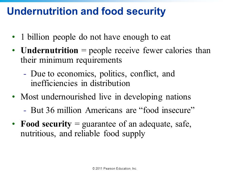Undernutrition and food security